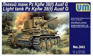(Plastic model Pz Kpfw 38(t) Ausf. G German light tank WWII 1/72 UM)