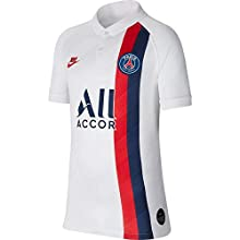 NIKE Paris Saint-Germain 2019/20 Stadium Third Camiseta, Niño, White/University Red, S