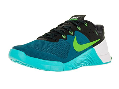Nike Mens Metcon 2 Synthetic Green Abyss/Electric Green/Gamma Bl/Bl Trainers - 11.5 D(M) US by NIKE
