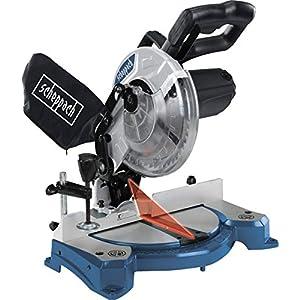 SCHEPPACH HM80L Sierra Ingletadora circular Deslizante con Preciso Ajuste de Angulo hasta 45º y 1500W de Potencia, Azul