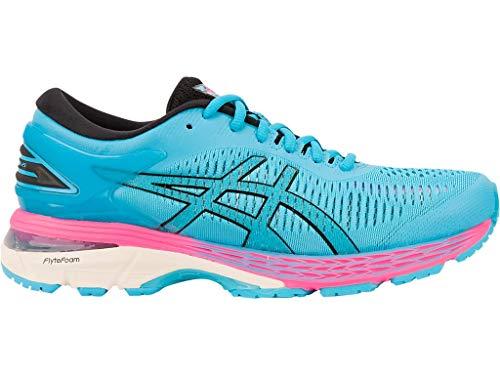 ASICS Women's Gel-Kayano 25 Running Shoes, 9M, Aquarium/Black