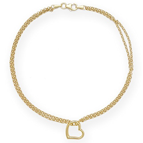 pave ankle curb white real bracelet solid gold anklet cuban yellow itm chain