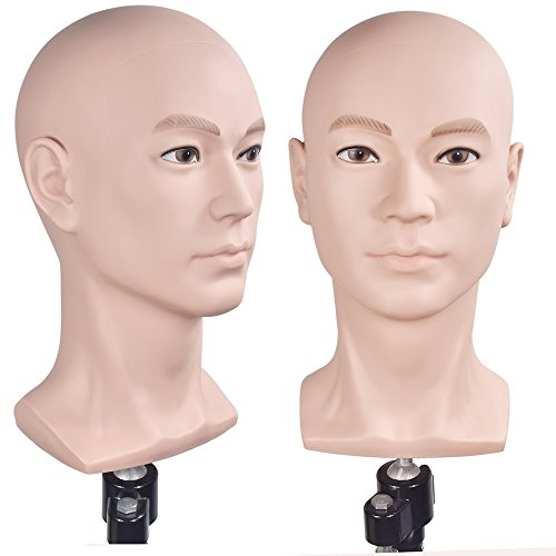 Male Mannequin Head Hat Display Wig Training Head Model Head Model (Mannequin Display Head)