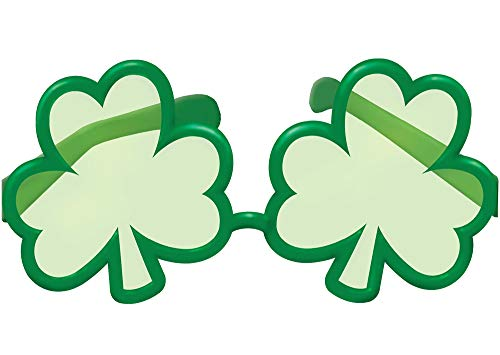 Amscan St. Patrick's Day Giant Green Plastic Shamrock Eyeglasses | Party Accessory