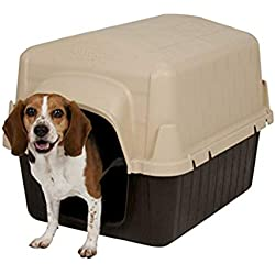 Aspen Pet Petbarn Dog House Snow and Rain Diverting Roof Raised Floor No-Tool Assembly 4 Sizes Available