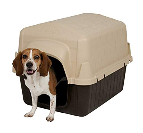 Aspen Pet Petbarn Dog House Snow and Rain Diverting Roof Raised Floor No-Tool Assembly 4 Sizes Available from Petmate