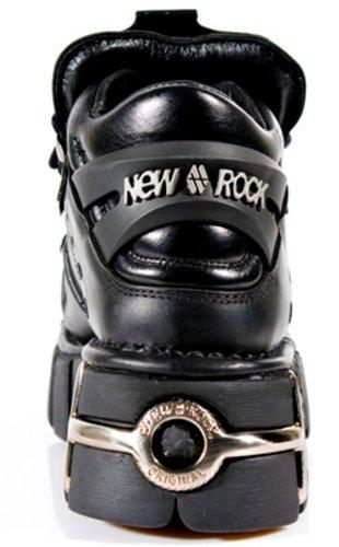 106 Style New Boots Noir Noir Unisexe Botte Rock S1 OwO6g1xqv