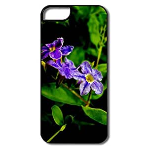Ideal 4 Purple Flowers Plastic Case For IPhone 5/5s