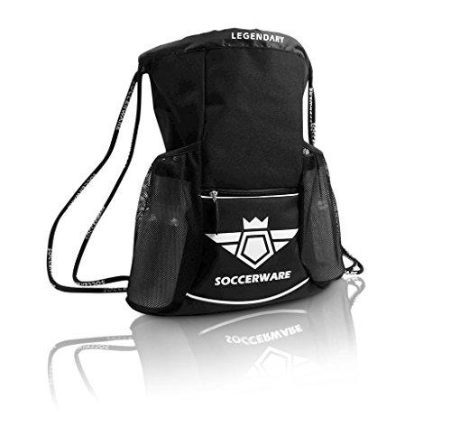 f7e2d629cd29 Soccer Bag Backpack with Ball Holder Pocket for Kids Youth Boys Girls  School Sackpack