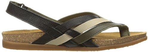 Naturalista Women's Mixed Zumaia El Nf47 Flat Black Sandal px56dPwqd