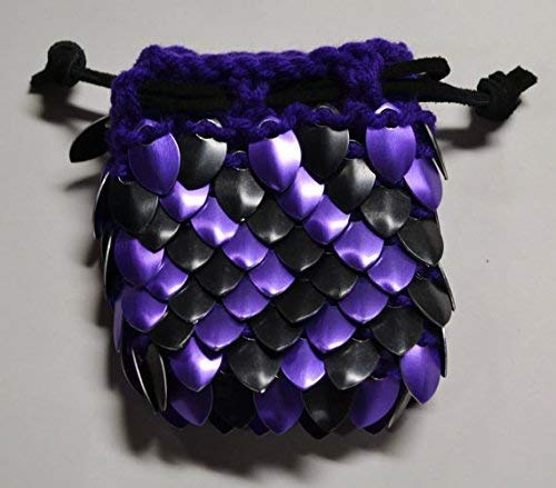 B01JQSOGEC Dice Bag in Knitted Scale Armor - Purple ZigZag 41xz2BpbrgXL