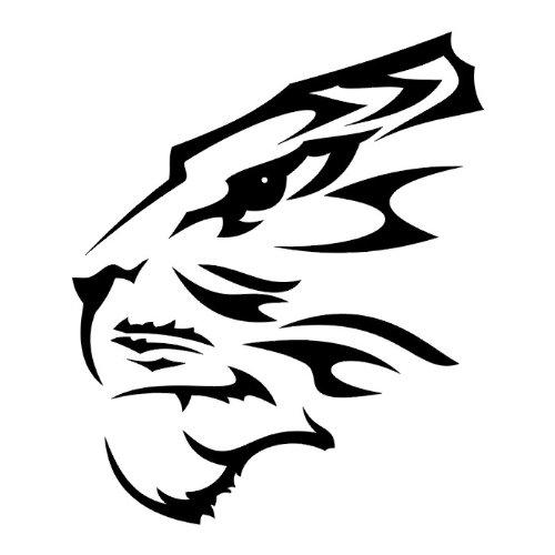 Tatuaje tribal de cabeza de Tigre, vinilo adhesivo pared Art Deco ...