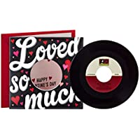 Hallmark Valentine's Day Card with Kelly Clarkson Vinyl Record (Real 45 Record Plays Love So Soft and Meaning of Life)