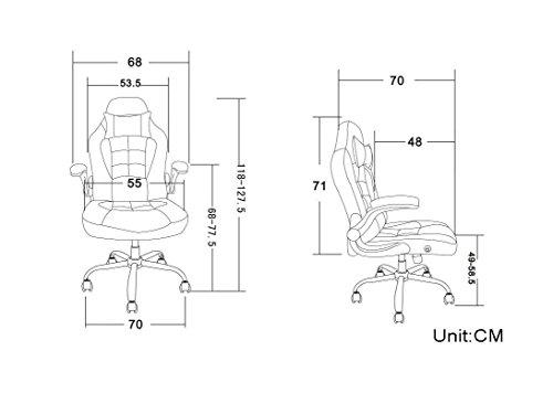 amazoncom merax high back ergonomic pu leather racing chair executive office chair swivel chair reclining chair home kitchen amazoncom bestoffice ergonomic pu leather high