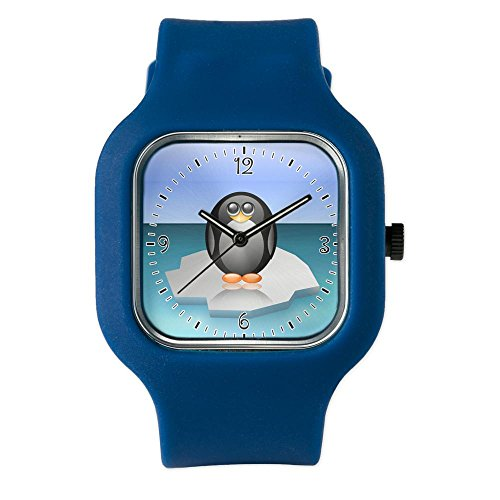 Navy Blue Fashion Sport Watch Cute Baby Penguin