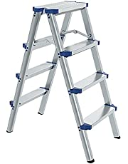 Step Ladder 2/3/4/5/6 Step,Portable Folding Heavy Duty Aluminum Lightweight Stepladder with Wide Pedal,for Home Kitchen Office,150kg Load