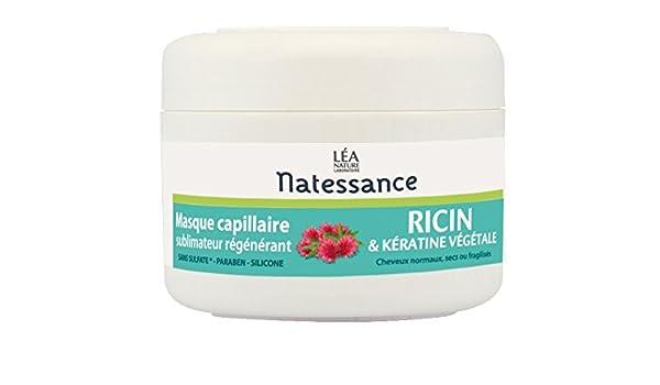 Natessance máscara capilar con aceite de ricino y queratina Vegetal, 200 ml: Amazon.es: Salud y cuidado personal