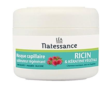 Natessance máscara capilar con aceite de ricino y queratina Vegetal, 200 ml