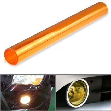 Tail Lights Fog Lights Tint Vinyl Film DIYAH 12 X 48 Inches Self Adhesive Headlight Orange