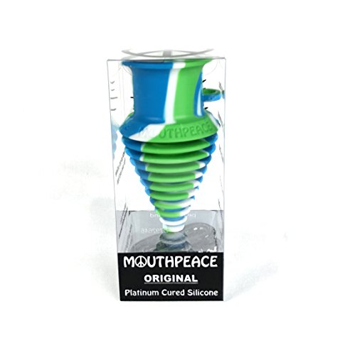 (MOUTHPEACE Mouth Peace 100% Platinum Cured Silicone (Blue/Green/White, Original))