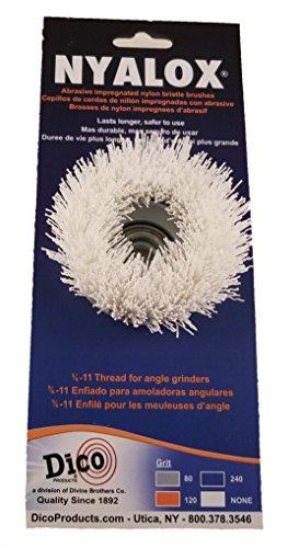 Dico Products 7200089 - cepillo para polvo antiabrasivo para amoladora angular, color blanco