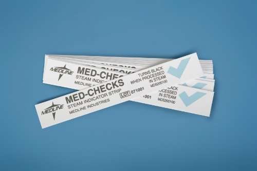 Medline MDS200150C Steam Indicator Strips, Class 4, 8