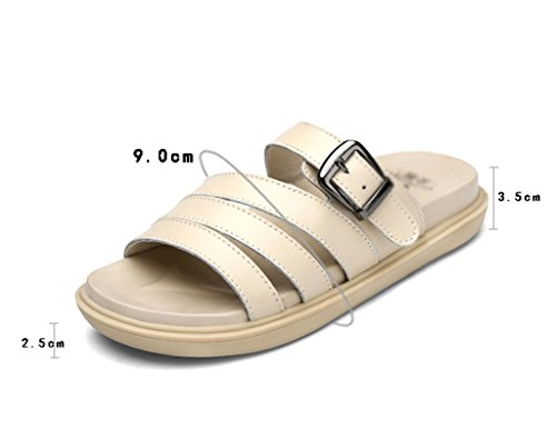 For Sandals Color Leisure Roman Flat Slippers Beige Fitflop Women White ZCJB 36 Size UUSnqrH5g