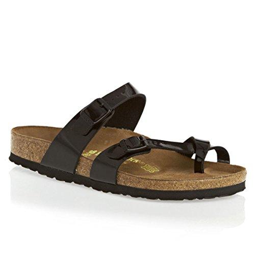 Birkenstock Mayari Black Patent Womens Sandals Size 38 EU
