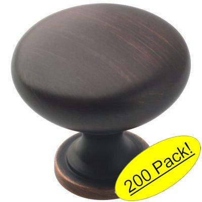 Amerock BP53005-ORB Allison Oil Rubbed Bronze Round Cabinet Knob 200 Pack