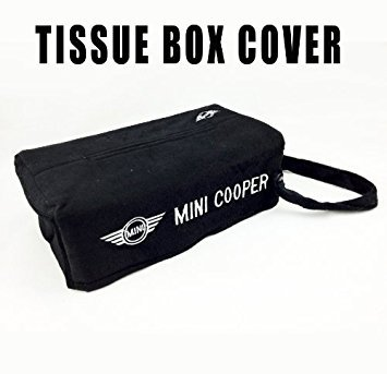 Mini Cooper Embroidered Logo Tissue Box Cover