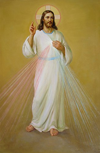 Jesus print Divine Mercy POSTER A3 Christ Picture image for sale  Delivered anywhere in USA