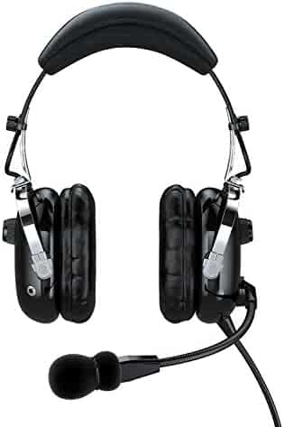 Faro G2 ANR (Active Noise Reduction) Premium Pilot Aviation Headset with Mp3 Input - Black