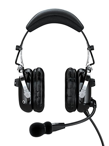 Faro G2 Anr  Active Noise Reduction  Premium Pilot Aviation Headset With Mp3 Input   Black