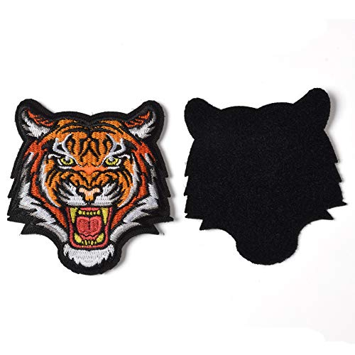 SHELCUP Tiger Embroidered Applique Patch - The Roaring Bengal Striped Striped Souvenir