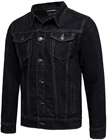 Zoroley Mens Denim Jacket Casual Jeans Trucker Western Classic Vintage Coat Cotton Long Sleeve Button Down Outwear Tops