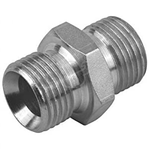 Hydraulic Male/Male ADAPTOR 3/8 BSP by L&S Engineers