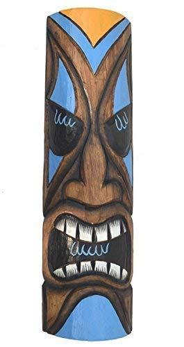 Interlifestyle Tiki Máscara de Pared 50cm con Grimmigen Cara Motivo en Hawai Buscar Máscara de Madera Hawai Maui Máscara Isla de Pascua Kauai
