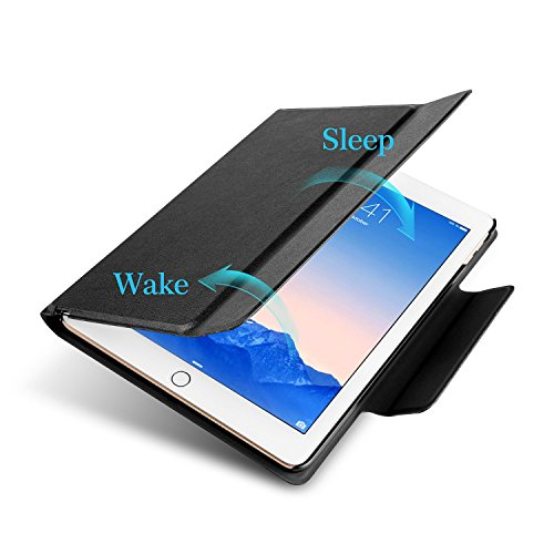OMOTON New iPad 9.7 2018 & iPad 9.7 2017 Keyboard Case, [Upgraded Version] Ultra-Thin Bluetooth Keyboard Portfolio Case with Stand, PU Leather, and Auto Sleep/Wake for Apple iPad 9.7 2017 2018 Tablet by OMOTON (Image #3)