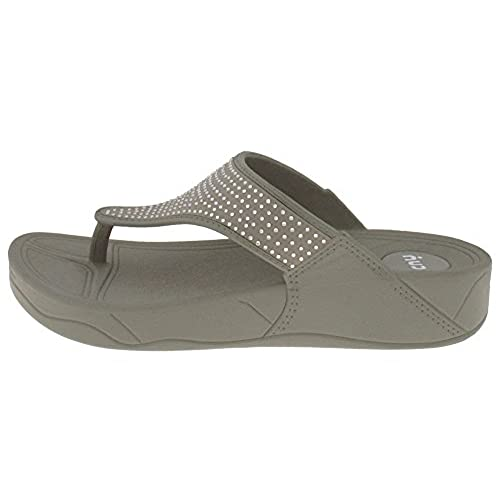 Hooded Upper With Gems on a Jelly Body Ladies Flip Flops