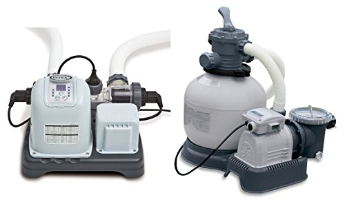 Intex Krystal Clear 2800 GPH Sand Filter Pump & 15000 Gal Saltwater Chlorinator