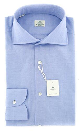 new-luigi-borrelli-blue-solid-extra-slim-shirt