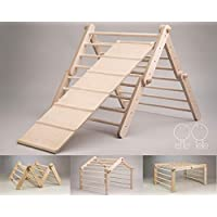 Modifiable Pikler triangle MOPITRI, climbing ladder for kids, foldable triangle WITH A CLIMBING / SLIDING RAMP
