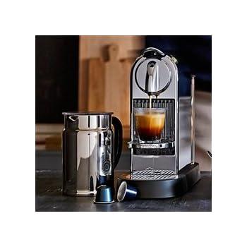 Nespresso Citiz C111 Espresso Maker with Aeroccino Plus Milk Frother, Chrome