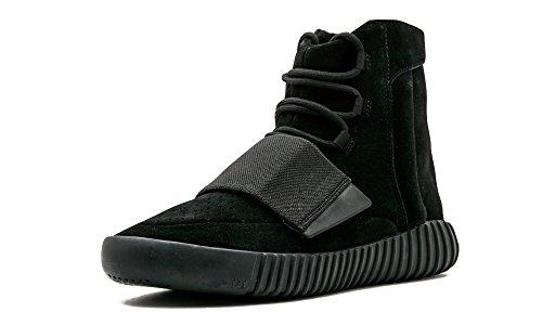 "adidas Mens Yeezy Boost 750"" Triple Black Black/Cblack Suede Size 6"
