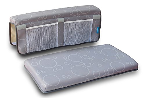 Haybellica Premium Baby Bath Kneeler Pad and Elbow Rest, Cushioned Comfort, Gray by Haybellica