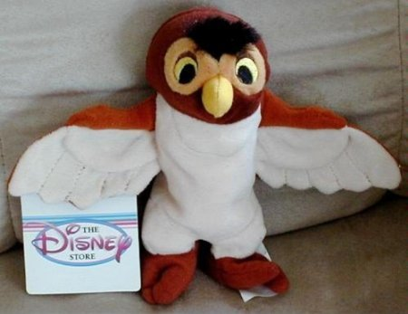 Disney's Wise Old Owl From Winnie the Pooh Bean Bag Beanie Plush Doll Toy