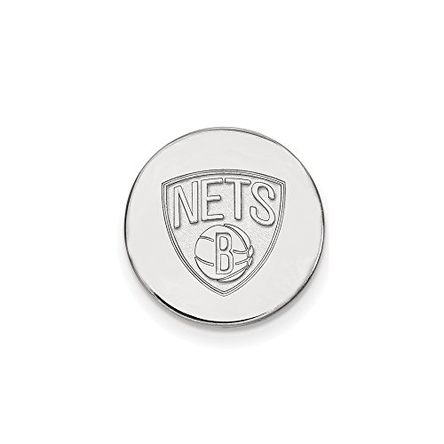 NBA Brooklyn Nets Lapel Pin in 14K White Gold by LogoArt