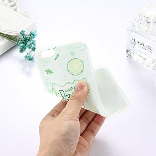 Phone Case & Hülle Für iPhone 6 & 6s, TPU mattierte geprägte Wassermelone Muster Schutzhülle zurück Deckung ( Size : Ip6g5304b )