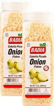 Badia Onion Flakes 14 oz Pack of 2 by Badia