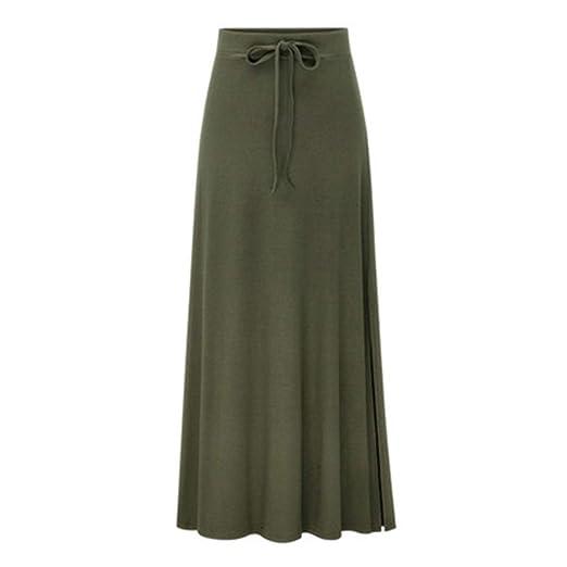 Shenye - Falda larga para mujer, talla grande, elástica, delgada ...